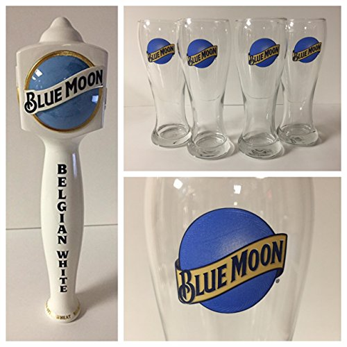 Blue Moon Brewing Co. Draft Kit - 4 16oz Glasses - 1 Tap by Blue Moon Brewing Co