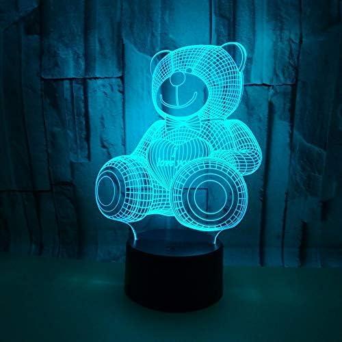 BFMBCHDJ New Bear 3D Light LED Touch Illusion Light Desktop ...