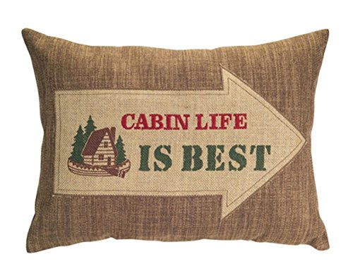 Cabin Life Is Best - Country Lodge Collection Oblong Embroid