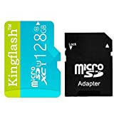 Kingflash 128GB Micro SD Card Class10 Rose Memory Card Flash Card Memory Microsd for Smartphone Tablet PC (128GB, Blue)