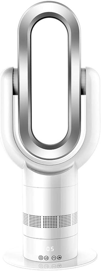 MIMI KING Ventilador sin aspas 2 en 1 Calefacción y refrigeración Calentador de ABS Inteligente eléctrico Calentador del Ventilador con Control Remoto Portátil de Doble Uso,Silver