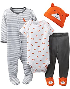 Carter's Baby Boys' 3 Piece Layette Set (Baby) - Orange