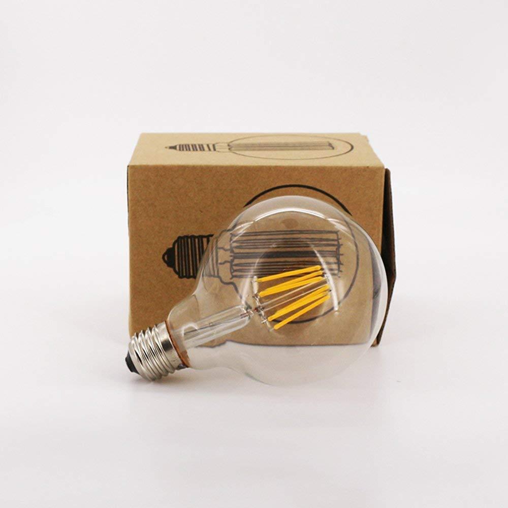 OK Lighting Large Globe Shape Dimmable Vintage Edison LED Light Filament Bulb G30/G95 6W Grande Forma de Globo Regulable Bombilla de Filamente E26 Base Warm ...