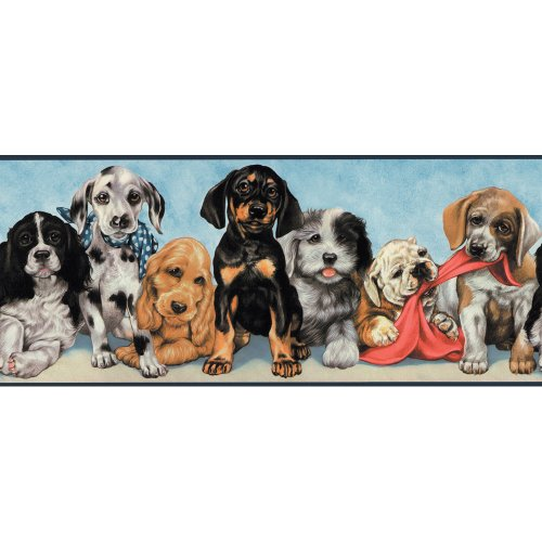 Playful Border - Decorate By Color BC1580162 Playful Puppies Border