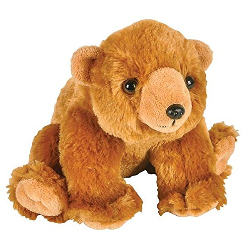 Adventure Planet Plush Animal Den - GRIZZLY BEAR (8 inch) - New Stuffed Animal ^G#fbhre-h4 8rdsf-tg1381985
