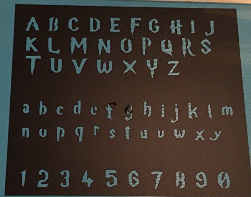 Harry Potter Font Stencil Letters and Numbers 8x11 Sheet by Athenian Designs