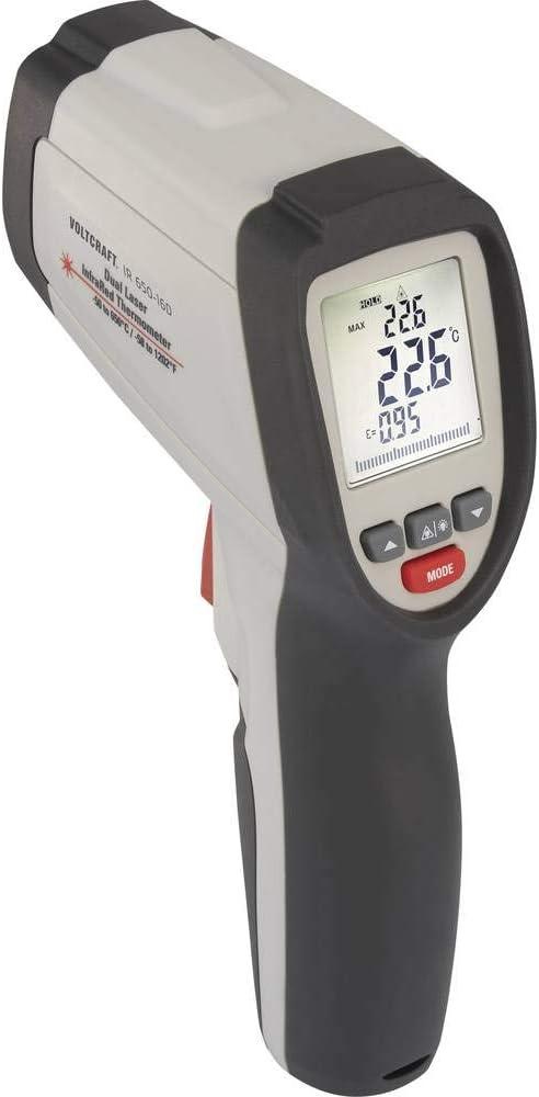 VOLTCRAFT IR 650-16D Infrarot-Thermometer Optik 16:1-40 bis 650 /°C Pyrometer