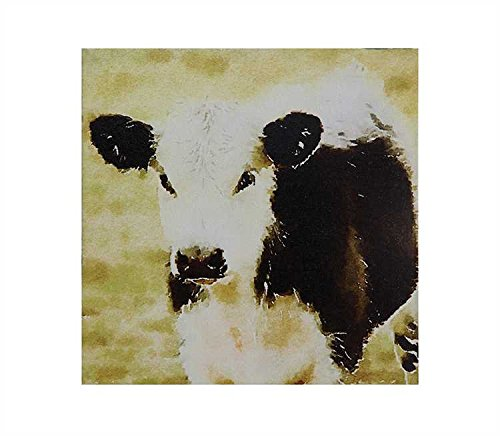 "11.75"" Square canvas Wall Decor with Cow"