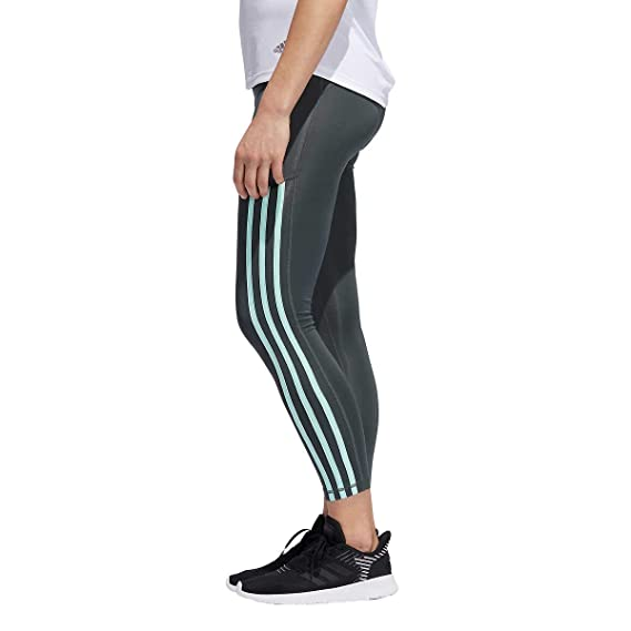 7946a6b8c12b7a Amazon.com: adidas Women's Training Believe This High-Rise 3-Stripe 7/8  Tights: Clothing