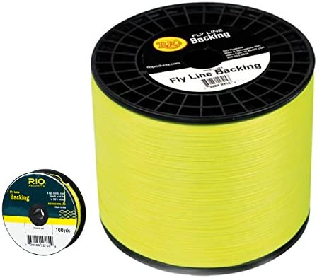 Rio Fly Line Backing, Dacron, 20 lb Test, Chartreuse – 100, 200, 250, 300, 400, 600 up to 5000 yds