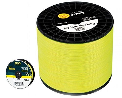 RIO DACRON Fly Line Backing, 20 lb Test, CHARTREUSE - 100, 200, 250, 300, 400, 600 up to 5000 yds (600 yds) ()