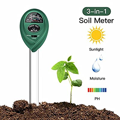 Soil Tester Meter 3-in-1 Soil Test Kit for Moisture, Light and PH acidity Test ,Plants gift Gardening Tools for Home and Garden, Lawn, Farm, Plants, Herbs, Indoor & Outdoor Plant Care Soil Tester