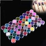 XICHEN 45 Pcs/Colors nail art glitter powder dust tips decoration Sets & Kits