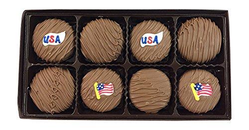 Philadelphia Candies Milk Chocolate Covered Oreos, USA American Flag Patriotic Gift 8oz
