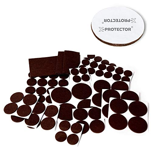 X-PROTECTOR Premium XXL SIZES Furniture Pads! BIG SIZES of Heavy Duty Felt Pads Furniture Feet – Your Best Wood Floor Protectors. Protect Your Hardwood & Laminate Flooring From Heavy Furniture! by X-Protector
