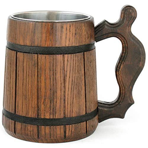 Wooden Beer Mug 20 oz for Men. Handmade
