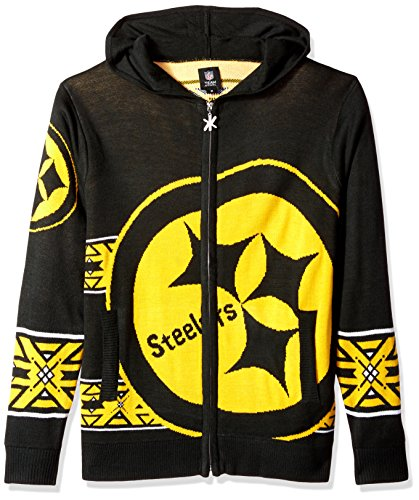 Pittsburgh Steelers Full Zip Hooded Sweater doppelt Extra große