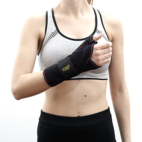 Soles Wrist Splint (Right Hand) – Fitted Support Brace for Carpal Tunnel, Tendonitis or Injury Recovery – Thumb Protection – Adjustable, Comfortable Design – One Size Fits All