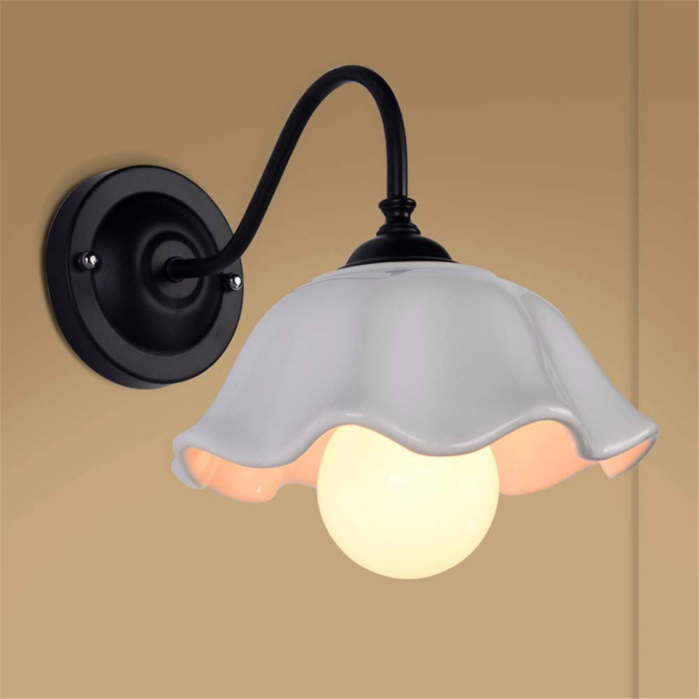 Modern LED Wandleuchte Amerikanische wandleuchte schlafzimmer nachttischlampe wohnzimmer gang beleuchtung Nordic einfache moderne kreative land schmiedeeisen lampen hoch 28  breite 26 cm