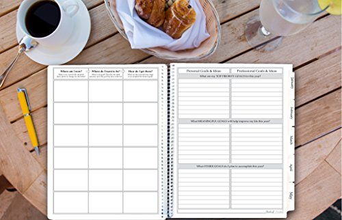 2018 Planner by Tools4Wisdom 12 Months Calendar Year – Motivational Daily-Weekly Planner Monthly Goals Journal (8.5 x 11 Softcover)