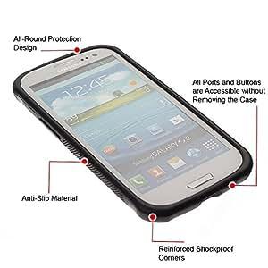 """Pulsar iFace Series Tpu silicona Carcasa Funda Case para Samsung Galaxy S3 III I9300 , Fractal Art Weed Naturaleza Gray"""""""