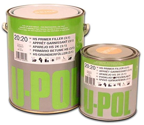 U-Pol Products 2204 Grey System 2020 Hs Primer Filler - 3 Liter