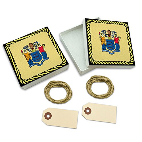 New Jersey State Flag White Gift Boxes Set of 2