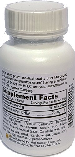 Fountain of Life Micron5 DHEA Ultra Micronized DHEA 25 mg 180 sr tablets by Fountain of Life (Image #1)