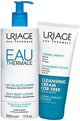 Body by Uriage Eau Thermale Silky Body Lotion 500ml & Free Cleansing Cream 200ml 500ml