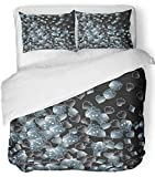 Emvency 3 Piece Duvet Cover Set Breathable Brushed Microfiber Fabric Abstract Casino Dice Playing Beautiful Bet Betting Club Entertainment Fortune Bedding Set with 2 Pillow Covers Full/Queen Size