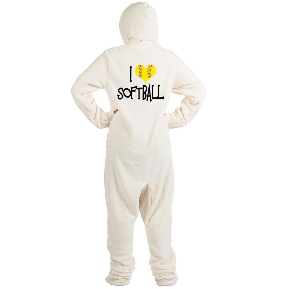 9cf9e23ab5 Amazon.com  CafePress - I Love Softball - Novelty Footed Pajamas