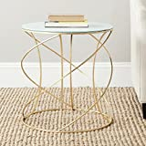 Safavieh Home Collection Cagney Gold Accent Table For Sale