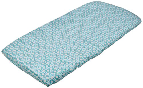 Kushies Change Pad Fitted Sheet Flannel, Octagon Turquoise for $<!--$14.95-->