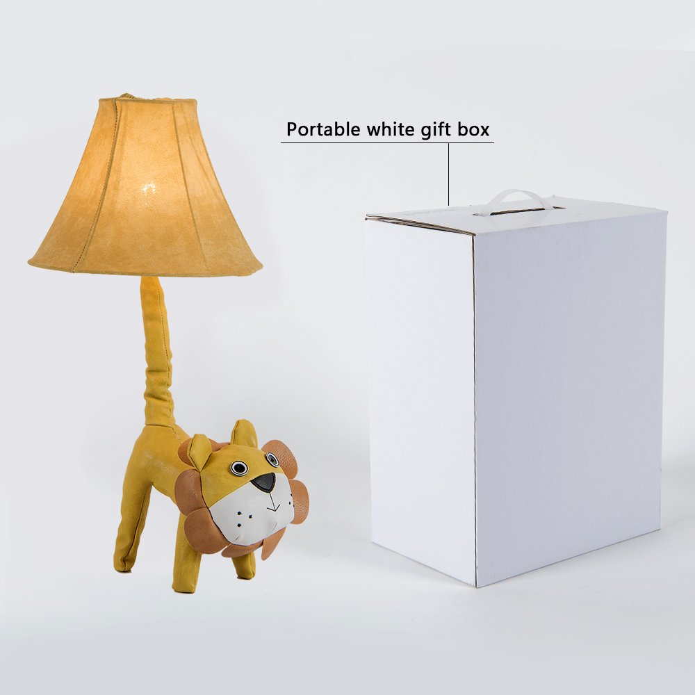 Amazon.com: Kids lámpara de mesa LED, Super Cute Animal Lion ...