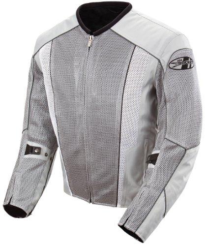 - Joe Rocket Phoenix 5.0 Men's Mesh Motorcycle Riding Jacket (Silver/Silver, X-Large)
