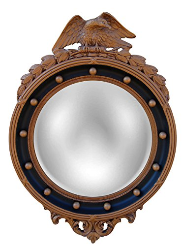 Hickory Manor House HM6318AGB Regency Eagle Convex Mirror/Antique Gold/Black