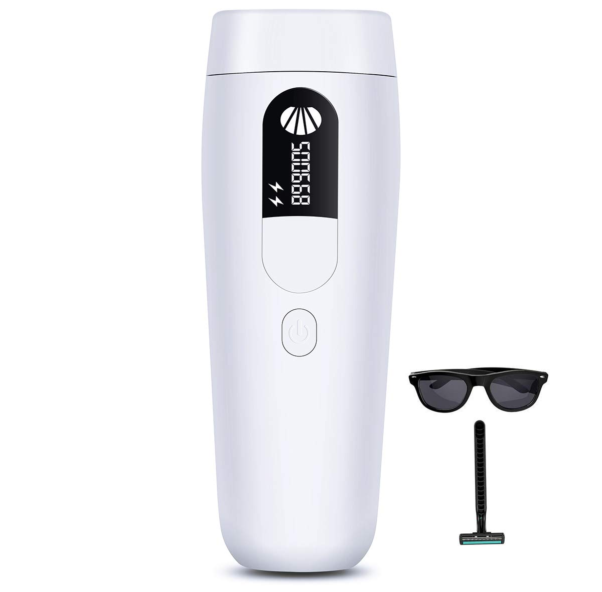 IPL Permanent Hair Removal System for Women&Men, 500,000 Flashes Professional Painless Laser Hair Remover Device for Home Use, Epilator for Facial Body or Bikini by Cinseer