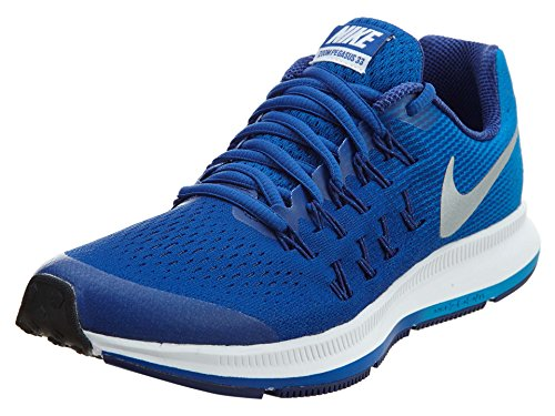 Nike Zoom Pegasus 33 (GS), Scarpe da Corsa Bambino Azul (Azul (Game Royal/Metallic Silver-photo Blue))