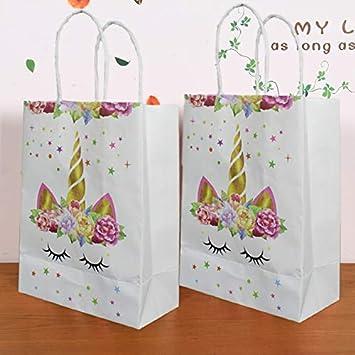 WAN JIA GUO JI Unicorn Party Favor Bags - Set de 12 Bolsas ...