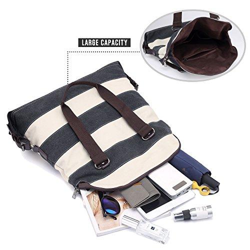 Shoulder Beach bag Handbags Women's Bag Bag Large Handle Canvas Top Casual Shopping Tote Bags Grey LOSMILE Bag 5w10dtx7qq