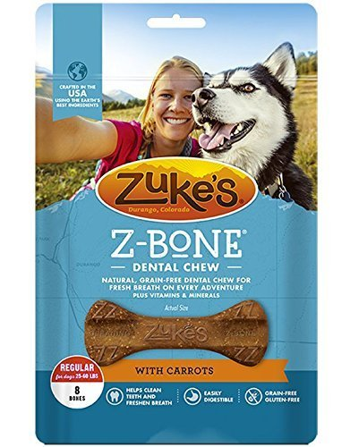 - Zuke's Z-Bones Regular Clean Carrot Crisp Dental Dog Treats - 8ct