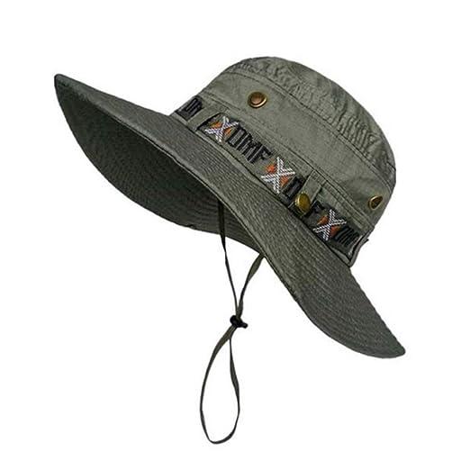 HYLH Hombres Ejército Caza Sombreros de Pesca Gorra de Deportes al ...