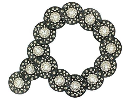 Nocona Concho (Nocona Women's Wide Faux Leather Discs Belt, Black,)