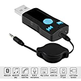 Bluetooth Receiver, Venhoo Mini USB Bluetooth Stereo Music Wireless Audio Adapter Car Kits with Hands Free Call for Home Audio, Headphones, Tablet Support TF Play Function