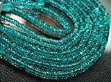 14 Inches, Super Finest QualityQuality Sky Blue Apatite Smooth Wheel Cut Rondelles, Size 5mm by Gemswholesale