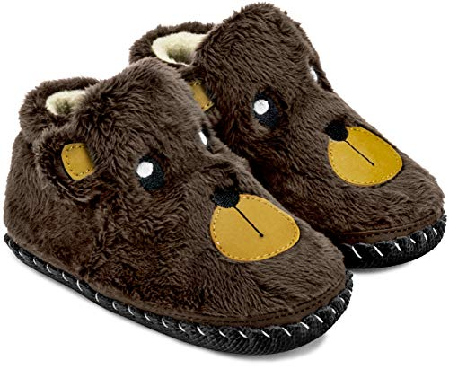 pediped Originals Boo Bear (Infant) Baby Shoe Brown