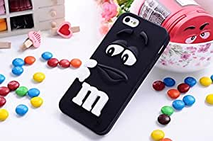 Black M&MS candy 3D silicone phone case cover Candy Case - iPhone 5 5S