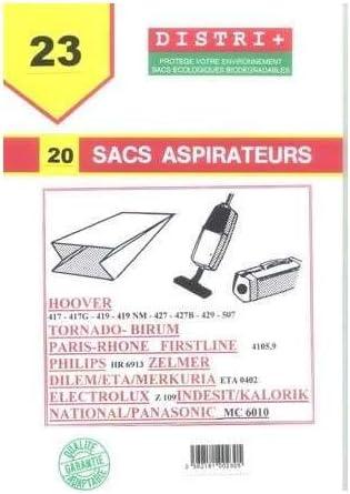 Bolsa para aspirador Tornado Hoover BIRUM, PANASONIC, ZELMER, EXPRESS, PARIS-RHONE, Carrefour-FIRST: Amazon.es: Hogar
