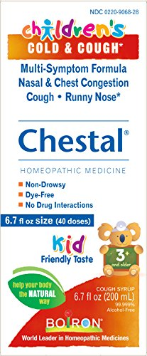 Boiron Children's Chestal Cold & Cough Syrup, 6.7 Ounce, Homeopathic Medicine for Cold and Cough