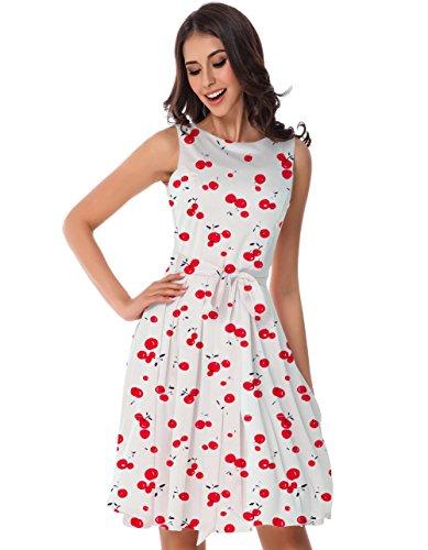 Simple Flared Women's Cherry007 Seagull Loose T Tara Plain Casual Shirt Dress Clearance q8IP5wZRx